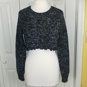 Sparkle and Fade black chunky knit sweater